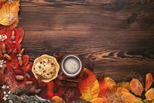 Autumn Leaves, Cookies And Tea...
