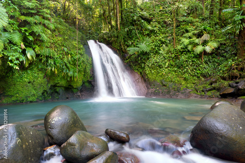 Staande foto Watervallen Most famous touristic site in Guadeloupe, french west indies,