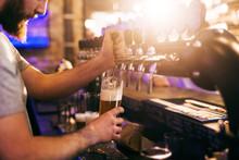 Bartender Pouring Beer.