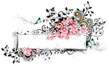 Rectangular Frame With Flora Elements