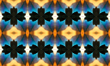 Yellow And Blue Dramatic Kaleidoscope Motif