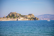 Old Venetian fortress and Hellenic temple at Corfu, Ionian Islands in Greece