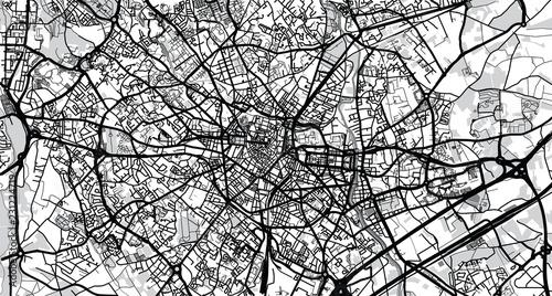 Fotografie, Obraz Urban vector city map of Montpellier, France