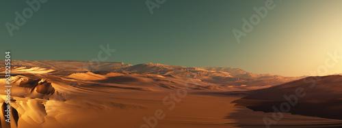Stampa su Tela Alien world landscape renders