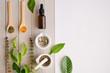 Leinwandbild Motiv herbal organic medicine product. natural herb essential from nature.