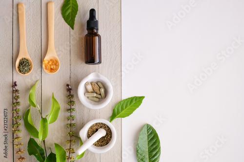 Fotografía  herbal organic medicine product