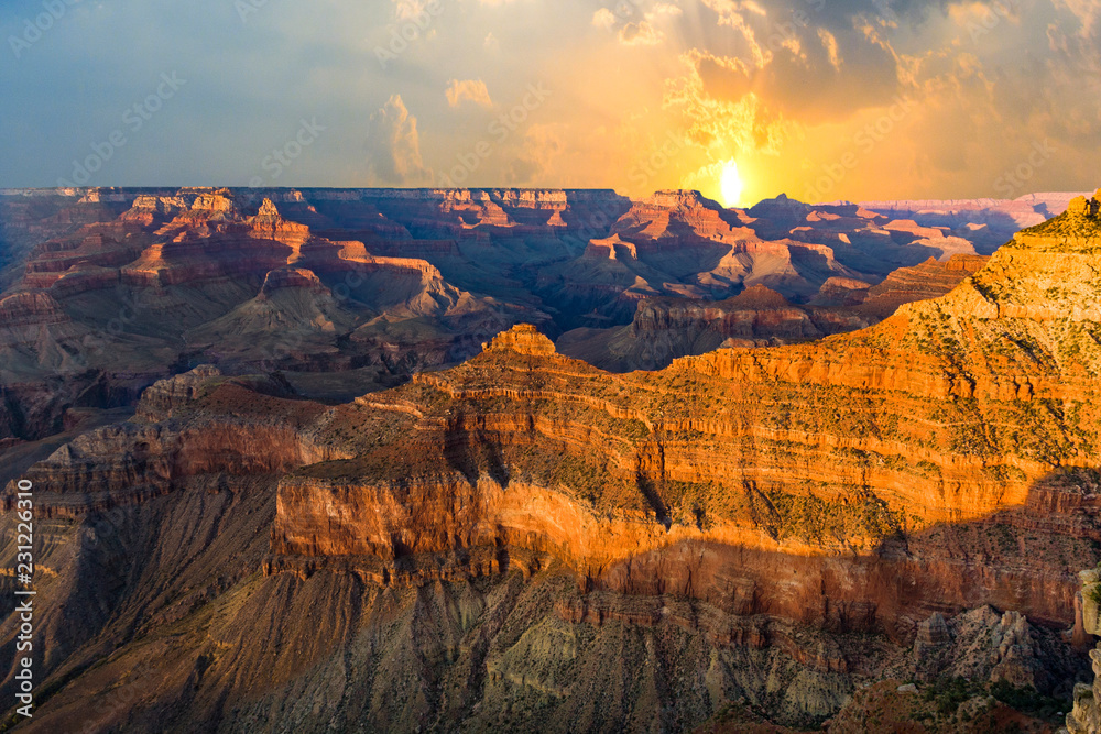 Grand Canyon at Mathers point in sunset