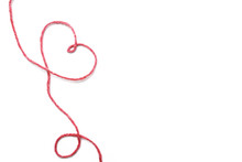 Red Thread And Heart Isolated ...