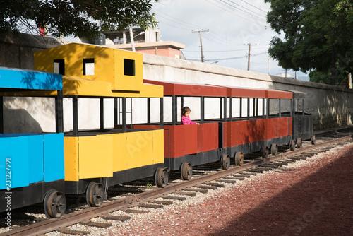 Kid in train