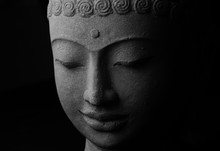 Buddha's Face Stone Sculpture