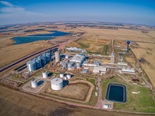 Aerial View Of An Ethanol Plan...