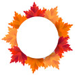 Autumn background with falling leaves vector illusration