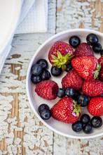Pancakes With Yoghurt & Summerfruit