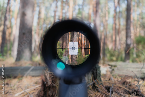 Sniper gun scope view