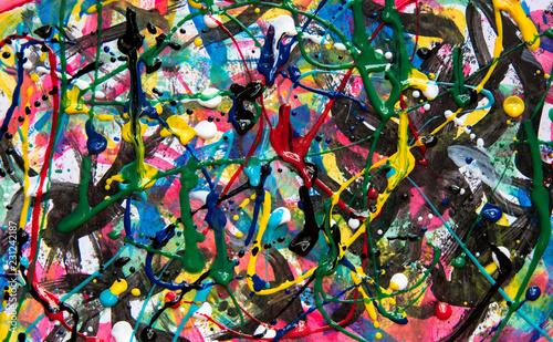 Poster Graffiti Fundo abstrato colorido