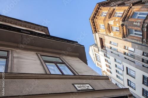 Foto  Historische Gebäude in der Innenstadt von Budapest, Ungarn (Europa)