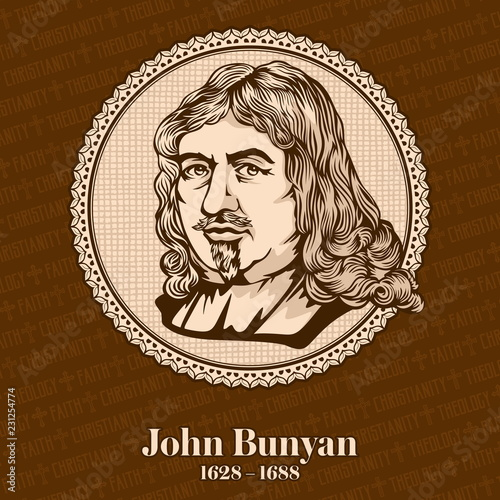 Photo John Bunyan (1628-1688) was an English writer and Puritan preacher