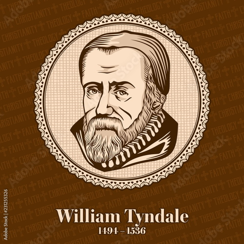 William Tyndale (1494-1536) was an English scholar who became a leading figure in the Protestant Reformation in the years leading up to his execution Wallpaper Mural