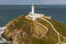 White Lighthouse At South Stack.