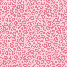 Pink Leopard Skin Fur Print Pattern. Great For Classic Animal Product Design, Fabric, Wallpaper, Backgrounds, Invitations, Packaging Design Projects. Surface Pattern Design.