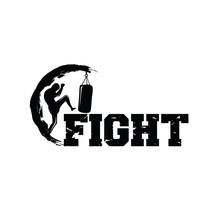 Kick Boxing And Martial Arts Logo Vector