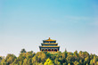 Leinwanddruck Bild - Jingshan Park, Chinese traditional pavilion on the hill in Beijing, China