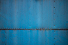 Texture Of Old Blue Rusted Metal Plate. Dirty And Ground, Can Be Use For Design