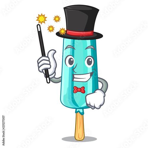 Fotografie, Obraz  Judge Magician ice cream shaped stick on mascot
