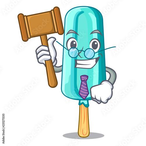 Fotografie, Obraz  Judge book ice cream shaped stick on mascot