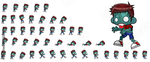 Zombie Game Character Sprites Canvas