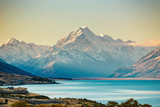 Road to Mt Cook, the highest mountain in New Zealand.
