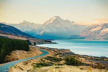 Road To Mt Cook, The Highest M...