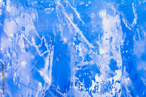 Fototapety, obrazy: The texture of the ice. The frozen water.Winter background