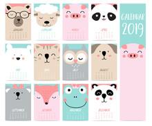 Doodle Calendar Set 2019 With ...