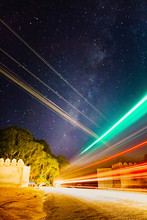 Milky Way Appears On The Middl...