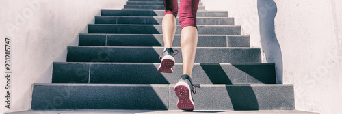 Cuadros en Lienzo Active weight loss training workout running up stairs for hiit workout cardio training