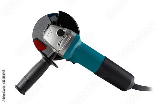 Fotografia, Obraz Angle grinder on white background