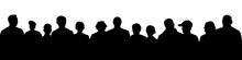 Crowd Of People Silhouette. La...