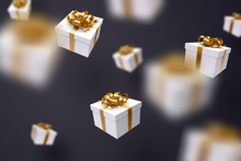 Falling Gift Box, Happy New Year Celebrate