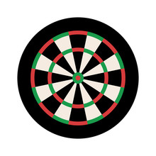 Dart Board For Darts Pub Game Flat Vector Color Icon For Sports Apps And Websites