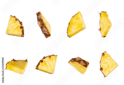 set of pineapple slices