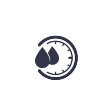 Humidity Vector Icon, Water Le...