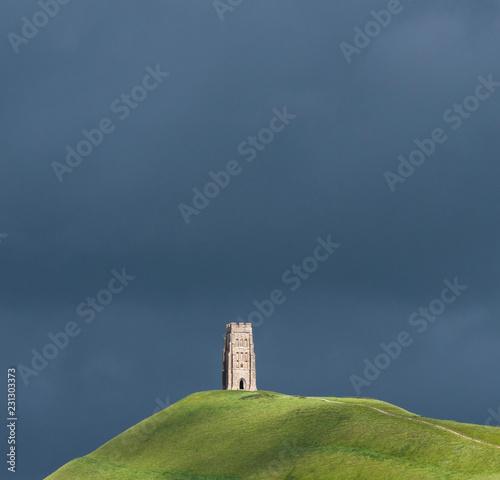 Vászonkép St Michael's Tower, Glastonbury Tor