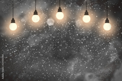 Fotografía  red nice shining glitter lights defocused light bulbs bokeh abstract background