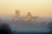 Ely Cathedral Emerges From The Dawn Mist, 26th November 2016
