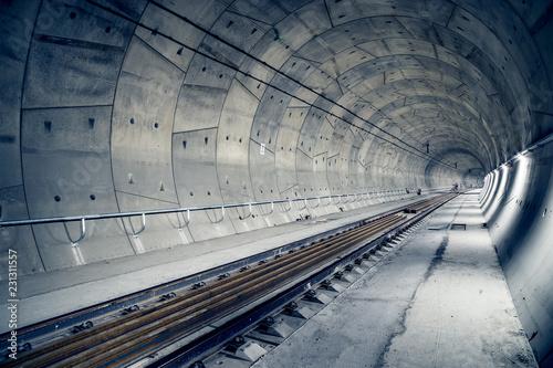 "Building of railway tunnel. ""Ejpovice tunnel"". Railway corridor construction"