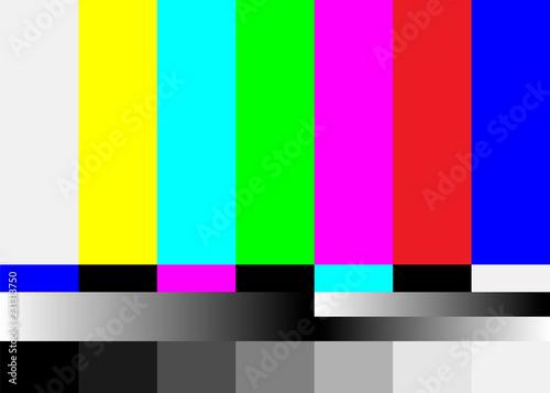 Photo  No Signal TV Test Pattern Vector