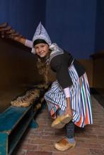 Dutch Vintage Schoolgirl Takes Off Her Wooden Shoes
