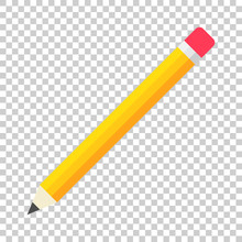 Realistic Yellow Wooden Pencil...