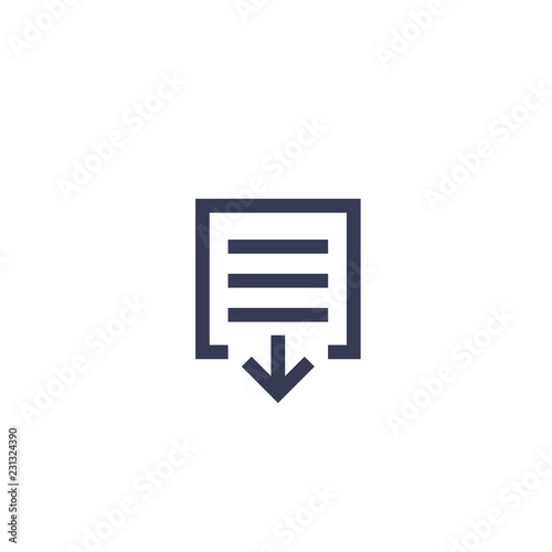 Fotografía  document download icon on white